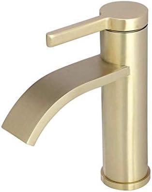 ZWH-ZWH 蛇口つや消しゴールドデッキマウント流域ミキサータップシングルハンドル洗面所の蛇口を使用し毎日、耐久性に優れました 蛇口