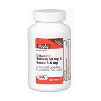 Amazon Com Docusate Sod 50mg Senna 8 6mg Docusate Sodium