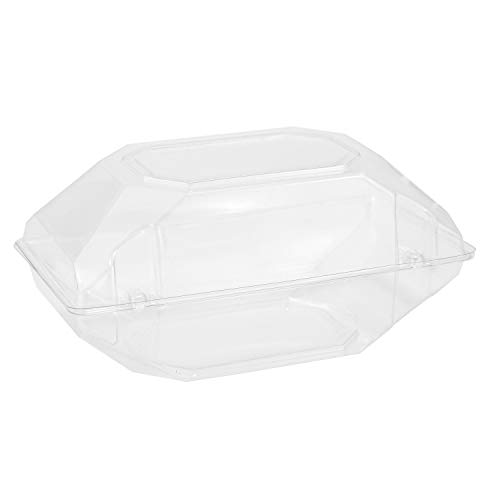 100 Pack Clear Plastic Flower Box for Corsage, Boutonniere, Rose, Orchid Prom Wedding Craft Container 9x5x4 ()