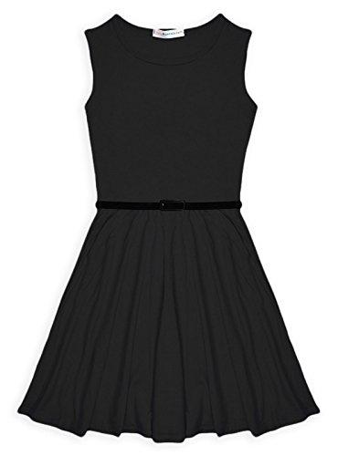 Buy belted black skater dress - 3