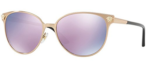Versace Pink Lens - Versace Womens Sunglasses Gold/Pink Metal - Non-Polarized - 57mm