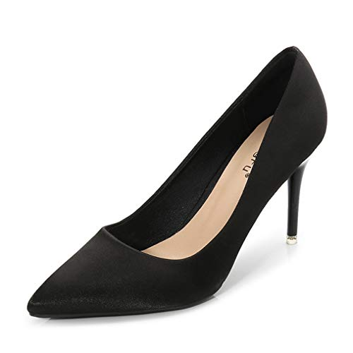 Sam Carle Womens Pumps,Solid Color High Thin Heel Pointed Toe Sexy Wedding - Pump Dots Metallic