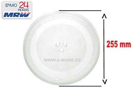 Plato Microondas Diámetro 255 mm para: TEKA - LG - Daewoo - BALAY ...