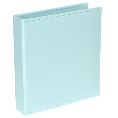 Project Life Faux Leather Album, 6 by 8-Inch, Light Blue (Light Blue Binders)