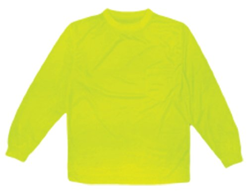ML Kishigo 9122 Polyester Microfiber Long Sleeve T-Shirt, Medium, Lime