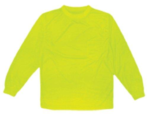 ML Kishigo 9122 Polyester Microfiber Long Sleeve T-Shirt, Large, Lime