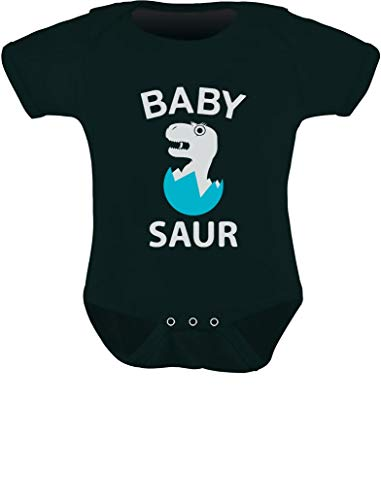 Tstars - Cute Baby Saur T-Rex Raptor Baby Bodysuit 12M (6-12M) Black]()