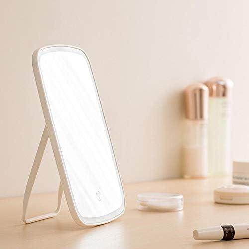 Qifumaer Spiegel Tischspiegel LED-Schminkspiegel charmanter Schmink Touch Dimmer Batteriespiegel abnehmbare intelligente Beleuchtungseinstellung und Dual Power optional