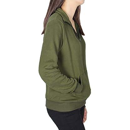 Smile Fish Women Teddy Fleece Quarter-Zip Sweatshirts Long Sleeve Lightweight Pullover Top 4