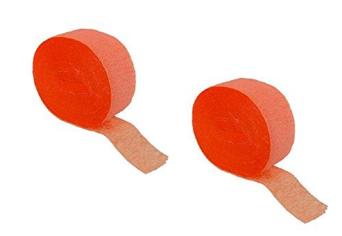 2 Roll / 150 Ft X 1.75 Inch Orange Crepe Streamer