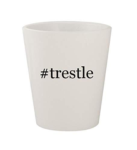 #trestle - Ceramic White Hashtag 1.5oz Shot Glass