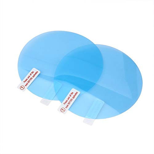 TOOGOO Car Rearview Mirror Protective Film Anti Fog Membrane Anti-Glare Waterproof Rainproof Car Mirror Window Clear Film S Blue
