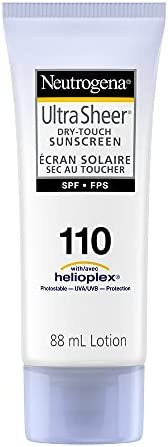 Neutrogena Sunscreen Lotion SPF 110, Ultra Sheer Dry Touch Sun Cream, Water Resistant, 88 mL Travel Size