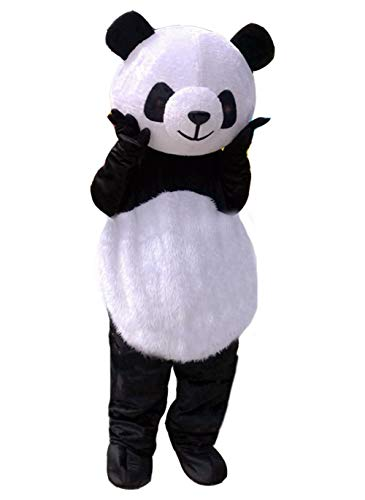 Panda Bear Halloween Costume For Adults (Huiyankej Panda Mascot Costume Panda Costume Adult Halloween Fancy Dress (Small))