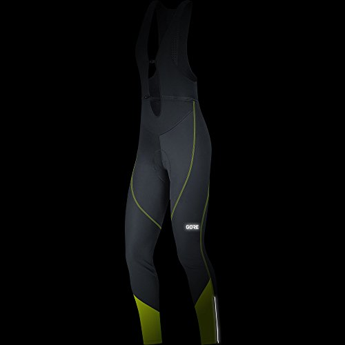 GORE WEAR Women's Long Cycling Bib Tights, C3 Women's Windstopper Bib Tights+, Size: S, Color: Black/Neon Yellow, 100332 by GORE WEAR (Image #2)