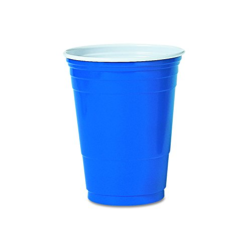 SOLO P16B Blue 16oz Party Cup (Case of 1000) -