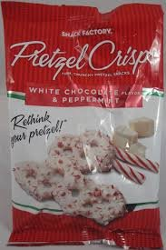 White Chocolate and Peppermint Pretzel Crisps (Pack of 2 Small 4 oz bags)