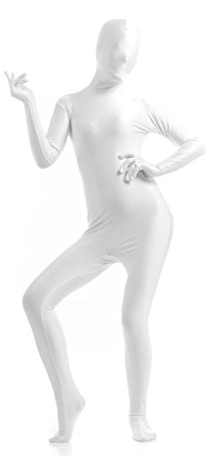 [VSVO Full Body Spandex Suit for Adults and Kids (XX-Large, White)] (White Morphsuit)