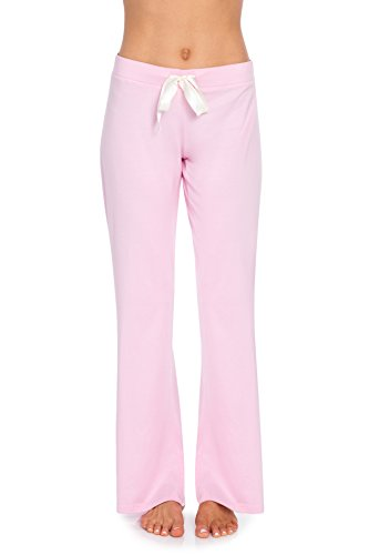 VDRNY Comfy Stretch Solid Flared Pajama Pants for Women (Lt. Pink, M)