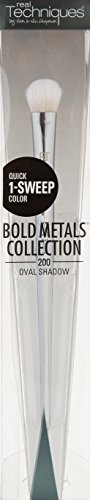 Real Techniques 200 Oval Shadow Brush, 0.914 Ounce; Blend Shadows and Apply Eyeshadow; Ideal for Powder, Cream, and Glitter Eye Shadows