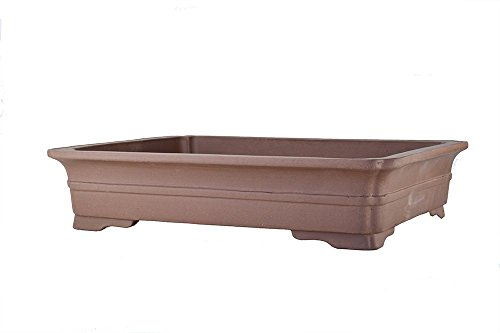 Extra Large Flat and Shallow Unglazed 21'' Rectangular Yixing Zisha Bonsai Pot (PA40-4) by BonsaiSupplies