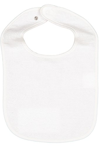 - Rabbit Skins Infant 100% Cotton Terry Contrast Trim Snap Bib (White, One Size Fits All)