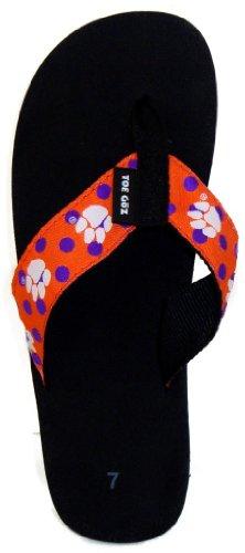 1ef73a403 Toegoz Women s Clemson University Polka Dot Flip Flops - Buy Online ...