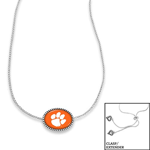 From the Heart College Team Kennedy Necklace (Clemson Tigers) (Necklace Clemson Heart)