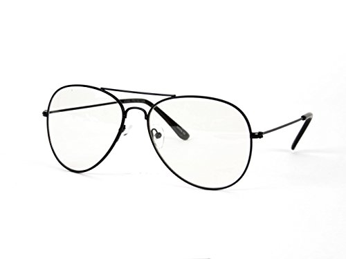 68b73070fb New Non-Prescription Premium Aviator Clear Lens Glasses