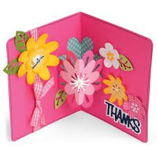 Sizzix Card with Flowers 3D Drop Ins