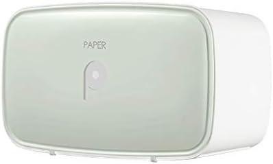 DWWSP Tissue-Box Toilettenpapier Box Wand-Haushalt Toilettenpapier Box Free Punch wasserdichte Papierhandtuch Box (Color : Green)