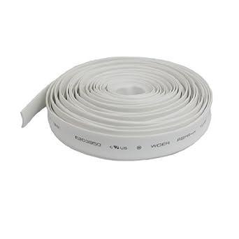 Rácio DealMux 2: 1 9 mm Dia Branco Polyolefin Termoencolhíveis 10M longo tubo