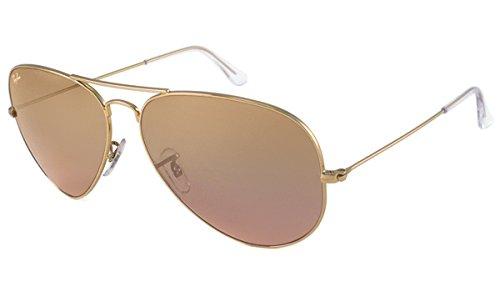 ray ban sunglasses aviator large metal rb3025  ray ban sunglasses rb3025 aviator large metal / frame: gold lens: crystal