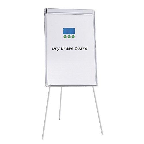 WEYOUNG Magnetic Tripod Whiteboard Adjustable Flipchart Easel Dry Erase Board, 23 5/8