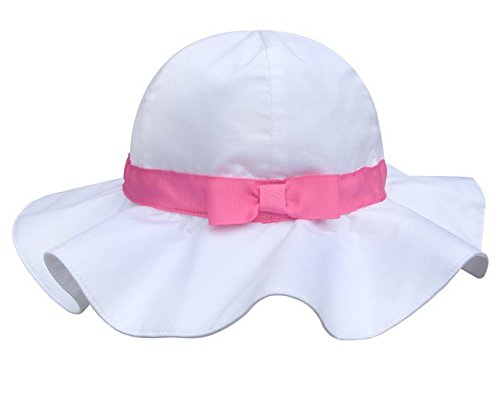 Spring / Summer Cotton Baby Girls 's Outdoor Bowknot Sun Hat /Beach Hat by MONIOW (Image #2)