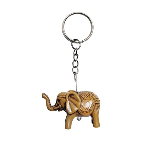 Hot Sale! Thailand Hand made Creative Personality Cute Elephat Fashion Faux Wooden Key Chain Key Pendant (Style2) Ferros Mini Pendant