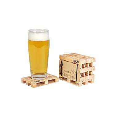 Pallet - Euro palette coasters set of 5 for all kind of hot and cold drink