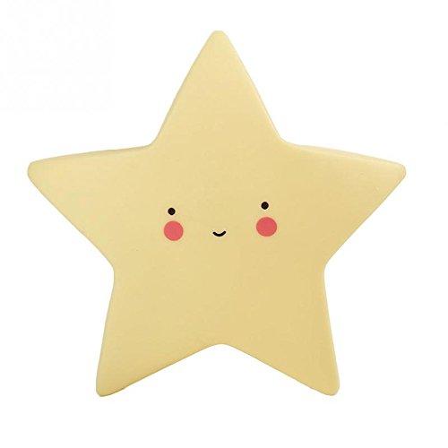 Rumfo LED Baby Night Light Nursery Lamp Moon Star Sun Face Bedroom Lamp Kids Toy Gift Room Decor (Star) - New Age 3 Light Chandelier