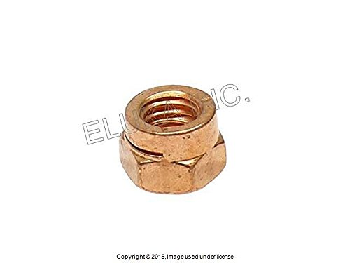 (24 x BMW Copper Lock Nut (6 mm) - Exhaust Manifold to Cylinder Head E30 E28 E34 M6 M5 M3 M5 3.6)