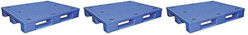 Vestil PLPS-4840 Vestil PLPS-4840 Plastic Pallet and Skid, 4000 lbs Capacity, 47'' Length, 39.25'' Width (3-(Pack))