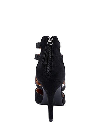 Bonnibel Womens Laser Cut Dressy Heel Black eD5o480Ay