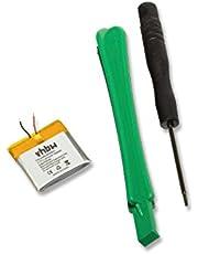 vhbw Li-Polymer Akku 100mAh (3.7V) für MP3 Player, Video Apple iPod Shuffle G2 1GB, iPod Shuffle G3 wie 616-0274, 616-0278.