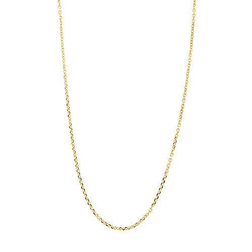 d Delicate Diamond Cut 0.85mm Cable Chain Necklace, 18