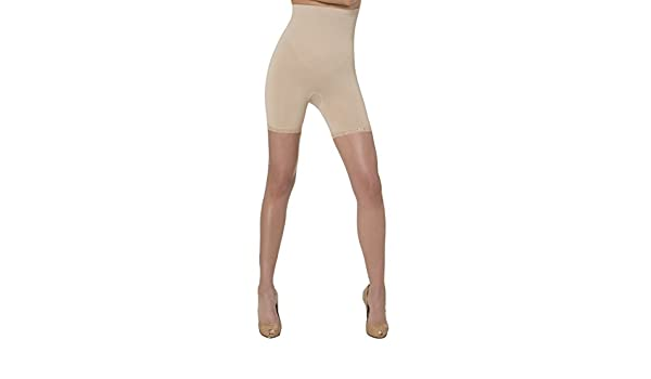 84644c1e032 N-Fini Aha Moment High Rise Anti-Cellulite Short with Lace Trim 1182 Nude -  3X-4X at Amazon Women s Clothing store