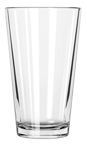 Libbey Glassware 1639HT Restaurant Basics Mixing Glass, Heat-Treated, 16 oz. (Pack of (Heat Treated Beverage Mixing Glass)