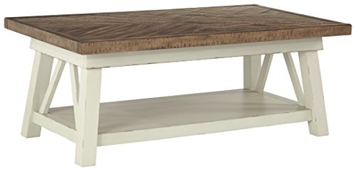 Ashley Furniture Signature Design - Stowbranner Casual Rectangular Cocktail Table - Two-tone ()