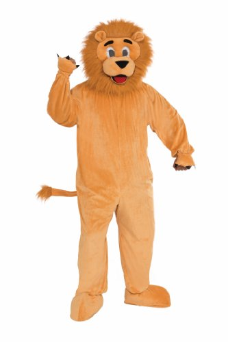 Forum Novelties Men's Teenz Lion Mascot Costume, Tan, Small