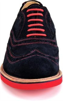 Walk-Over Mens Cambridge Wing Tip Oxford Navy Suede/Red 6hHvNyoINO