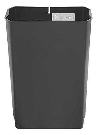 rubbermaid commercial slim jim end stepon trash can rigid liner plastic 8 gallon