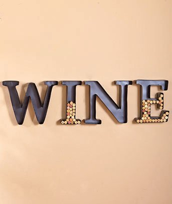Monogram Wine Cork Holder Set of 4 Letters W I N E (Wine Letters)